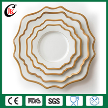 Plain white ceramic dinner plate manufacturers of gold rimmed dinnerware
