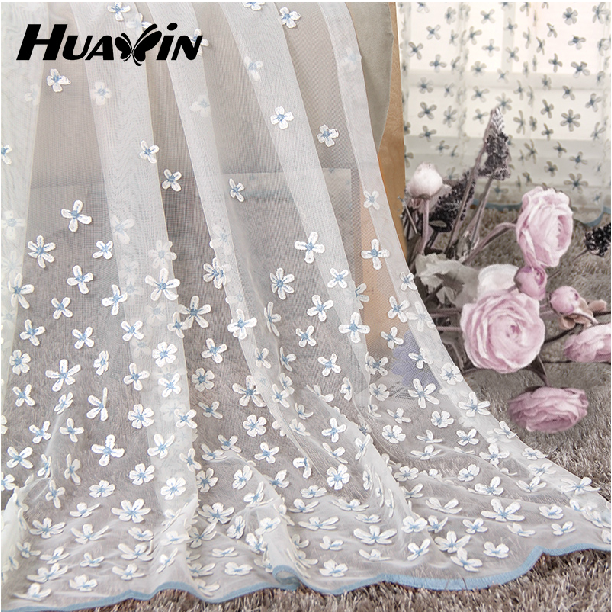 100% polyester High Quality organza fabric for curtains