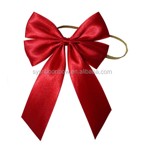 pre made elastic vine bottle ribbon bows