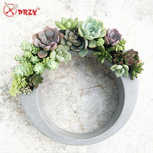 2017 New Cement flower pots Craft molds Silicone Centrifugal circle Concrete Vase Decorations Mold