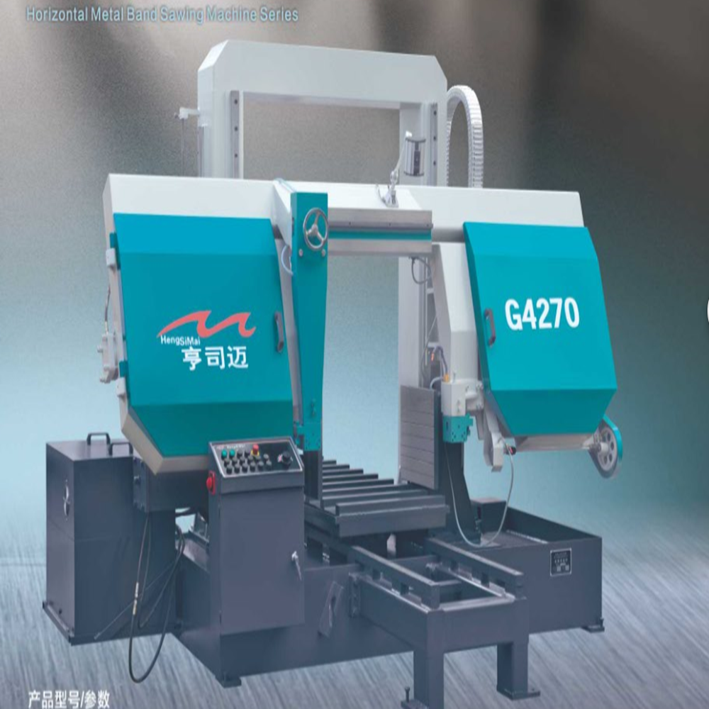 Large - scale hydraulic semi - automatic band sawing machine G4270 metal cutting machine