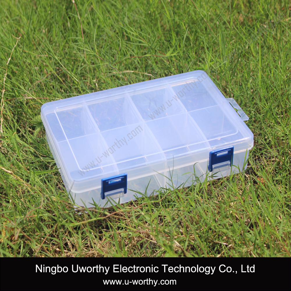 Multifunctional Transparent Storage Kit Plastic Container Box with 8 Compartments