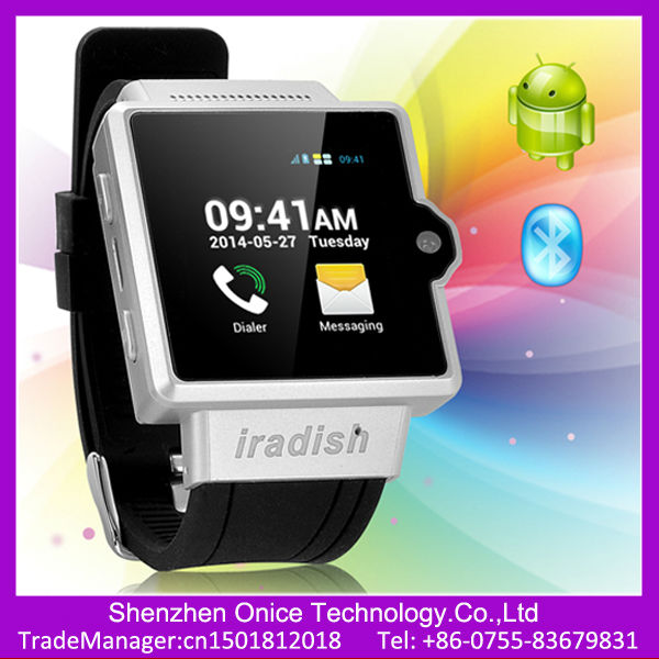 watch phone android wifi 3g i6 MTK6577 dual core WCDMA 850 1900 2100MHz