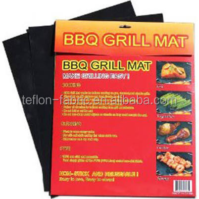 Free Sample Easy Use Teflon Cooking Sheet Non Stick Material Grill Mat For Barbecue