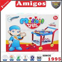 Medical kids doctor toy trolley play set