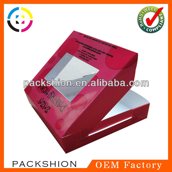Dongguan decorative paper cake boxes for wedding