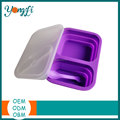 Easy Storage Food Boxes Collapsible Silicone food container with lid