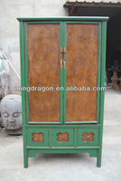 Chinese antique big carved painted wooden wardrobe