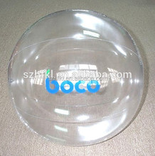 14 inch PVC inflatable clear plastic ball with logo printed for giveaways