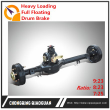 2017 HOT China Factory Gasoline Tricycle Drum Brake Car Full Floating Real Axle