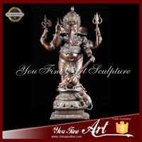Indian God Bronze Ganesha Statue