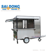 Outdoor Mobile coffee cart /food truck/food concession trailer with big wheels