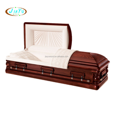 Figured rosewood folding coffin for the dead dropship from china casket funeral supplies