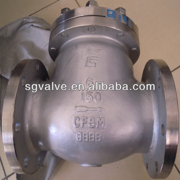 CS DOUBLE FLANGE SWING CHECK VALVE 600LB