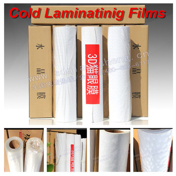 Photo album 3D cold laminating film, self adhesive PVC protecting cold film
