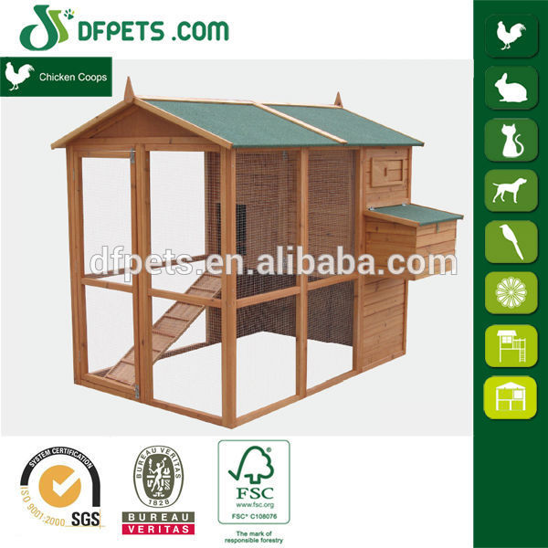 Small Animal Rabbit Bunny Hutch Cage Lodge Home Ramp Lift up Roof Easy Clean