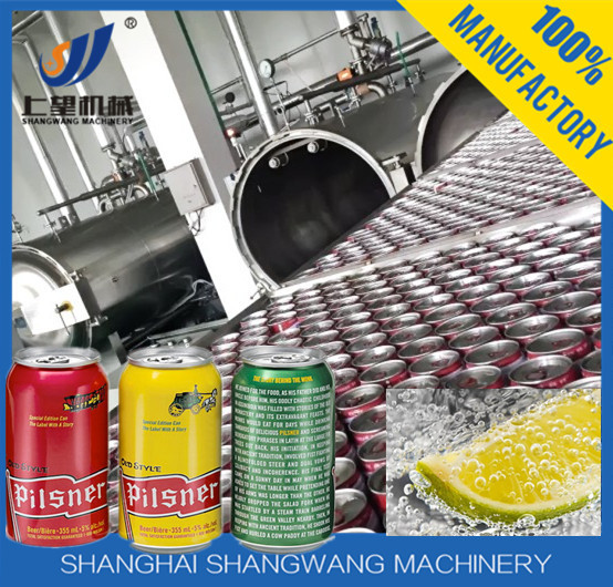 Carbonated Drink Filling /Capping/Packaging Machine , Pop Can Carbonated Beverage Production Line