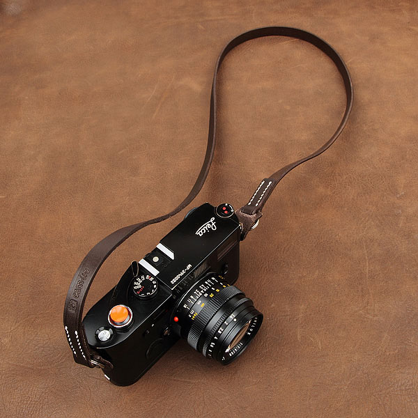 Handmade Leather dslr camera shoulder strap