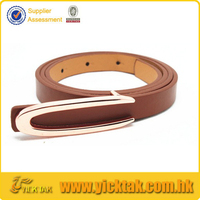 Beautiful Buckle Woman Leather Belt Brown