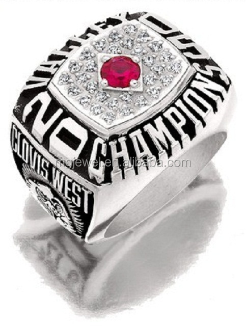 Individualized football championship rings jewelry to tell you a team story