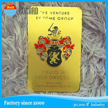 200 pcs custom laser cut laser variable numbers gold metal cards with shipping cost to Canada