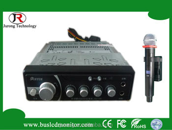 bus audio amplifier with wireless mic