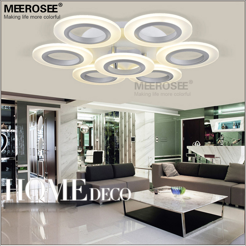 Modern 7 Round Rings LED Ceiling Light Acrylic LED Lustres for Home Decor Energy Saving Light Fixture MD3019