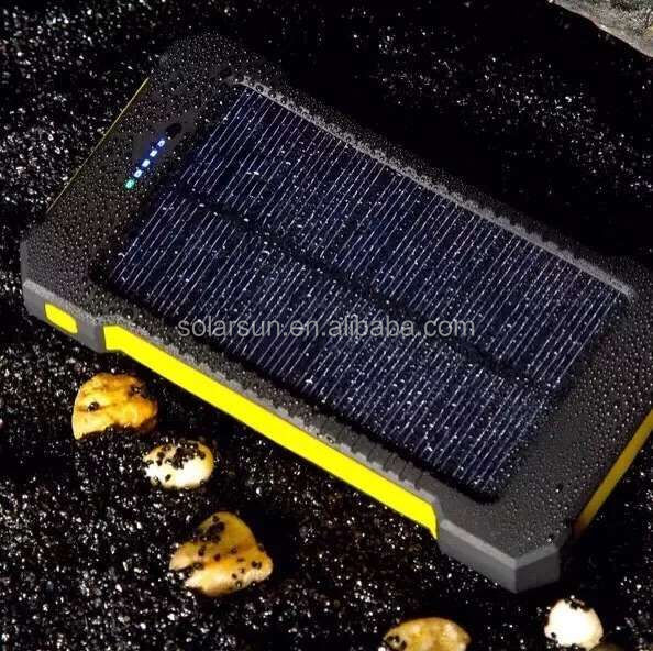 Genuine solar mobile power 20000 mAh mobile phone charging treasure emergency charger solar power bank