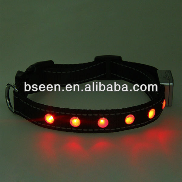high quality led dog collar wholesale pet supply