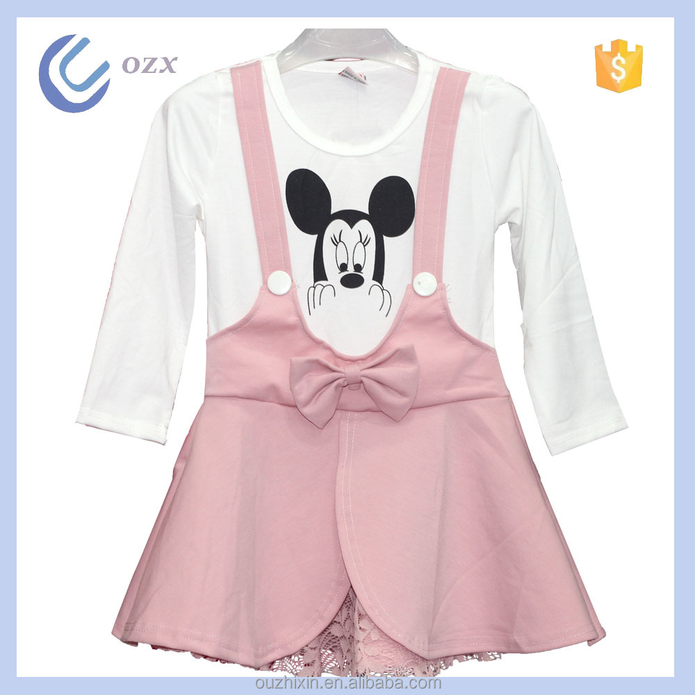 Warm soft pink baby dress new style girl party dress frocks designs