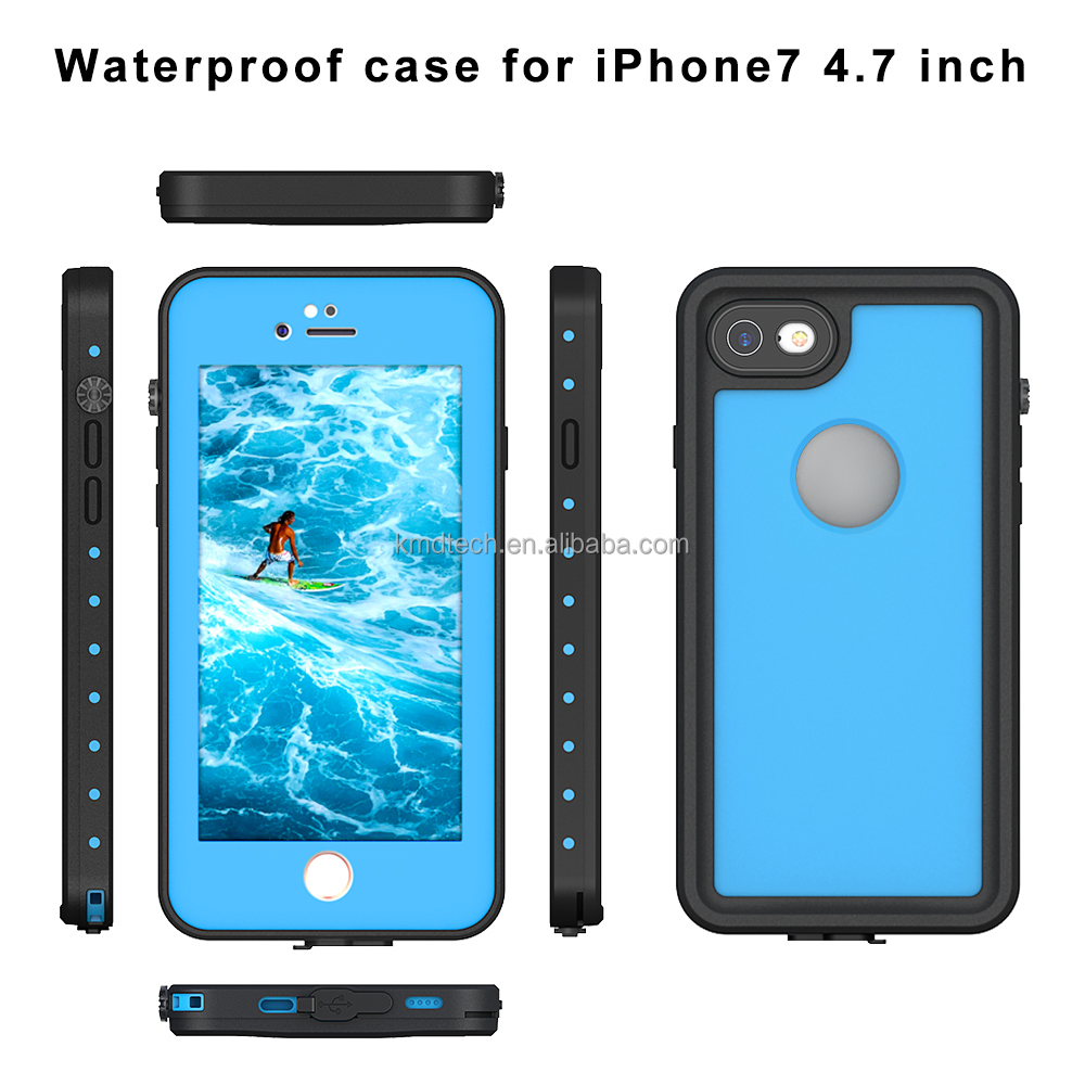 For iphone 7 Case Cover Dot Series Touch ID Screen Protector Shock Dirt Snow Proof Case