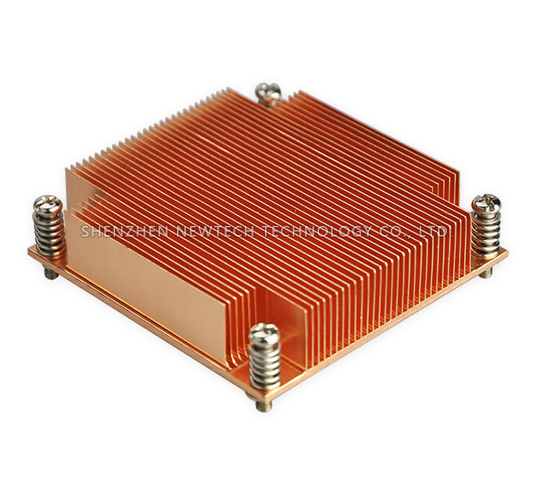 LGA 2011 square type copper skiving/extruded alloy cpu passive heatsink