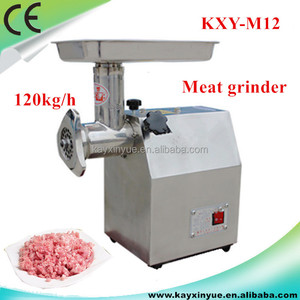 Professional electric stainless steel meat mincer for meat processing
