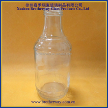 500ml unique shaped empty glass beverage juice drinking bottles