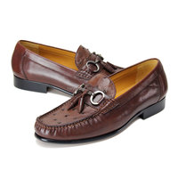 Heyco Brown Breeded Ostrich Skin Leather