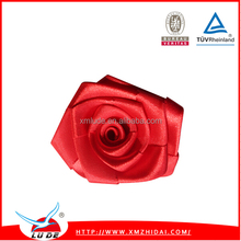 New Arrival polyester satin ribbon decorative flowers mini roses
