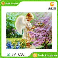 High quality wholesale kids room decoration hand made diamond painting baby angel painting