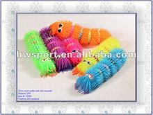promotional LED worm puffer ball with bracelet