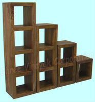 cube bookcase,mango wood furniture,home furniture