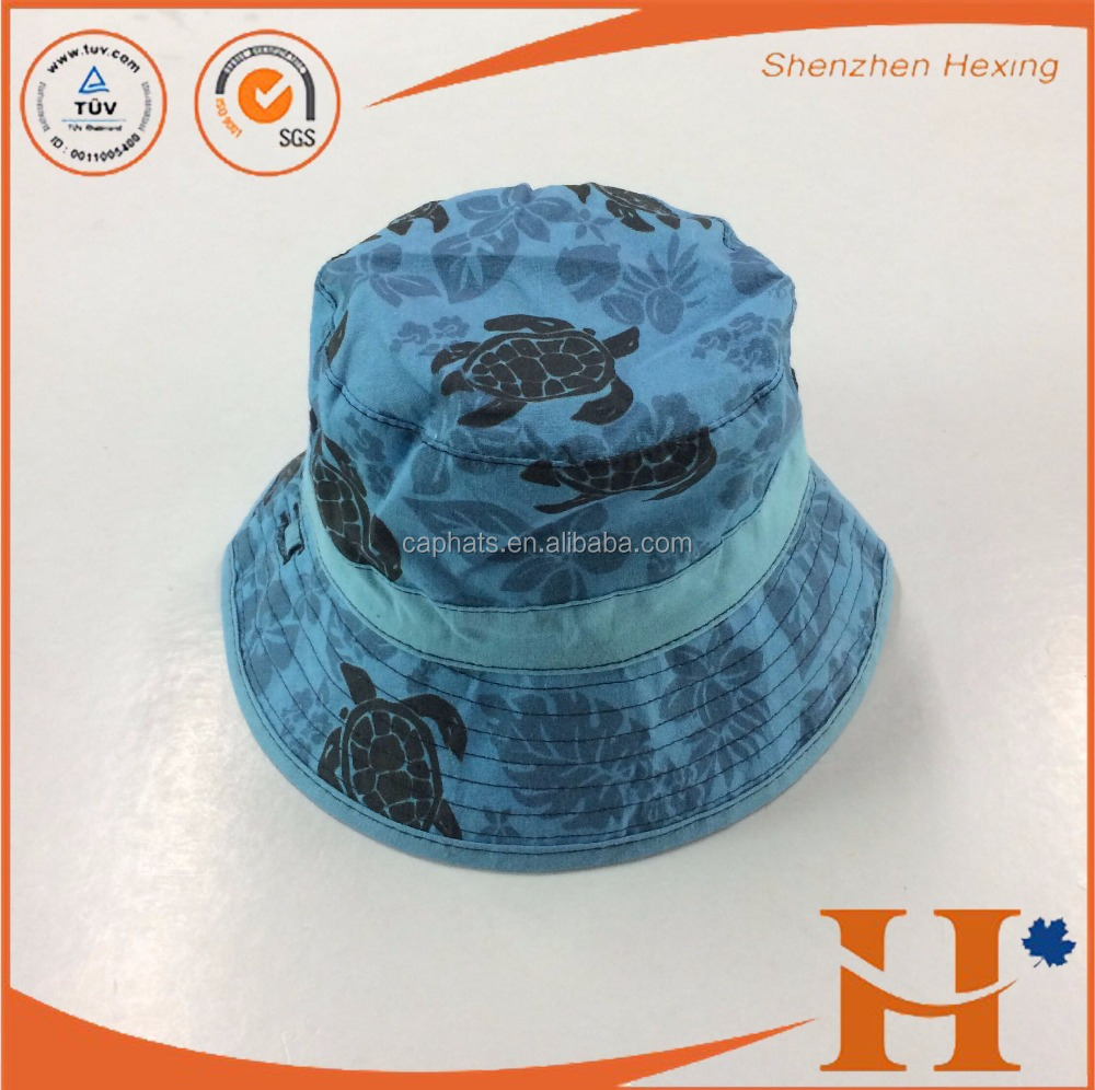 Print Bucket Hats Men Reversible Two Sides Can Wear Embroidery Cotton Sun Bob Cap Comfortable Fisherman Hat Wholesales