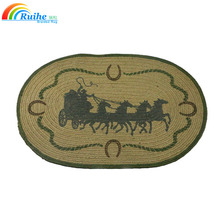 jute horse rug patterns oval indoor and outdoor entrance mat carpet