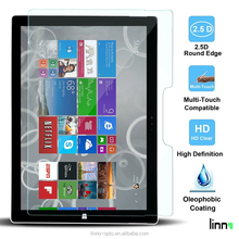 China supplier Linno tablet accessories premium tempered glass screen guard for Microsoft surface pro 4