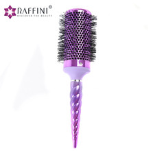 Fast drying electroplate unicorn roll ceramic vent barrel round hair brush