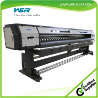 Cheap 3.2m WER ES3202 large format vinyl pvc flex banner printing machine eco solvent canvas printer for sale