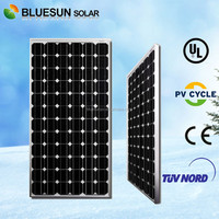 Bluesun factory price high efficiency A-grade cell mono 200w sunpower solar panel kit