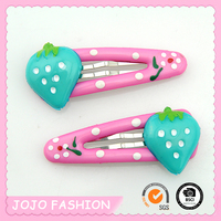 Cheap Wholesale Cute Acrylic Strawberry Plastic Hair Bobby Pin for Girls/