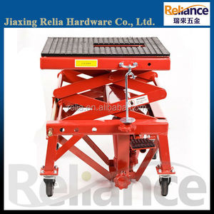 300 LBS Hydraulic Motorcycle Scissor Lift, Dirt Bike Lift Table