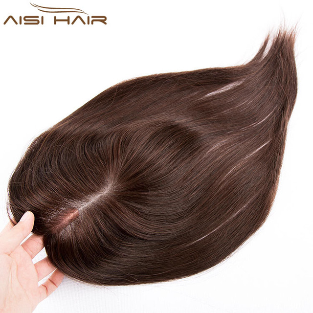 Aisi Hair Top Quality Thin Skin Injected Men Toupee Size 9X14 CM Men Human Hair Piece Free Shipping