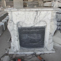 Fireplace Stove Arabescato Marble Fireplace Mantel
