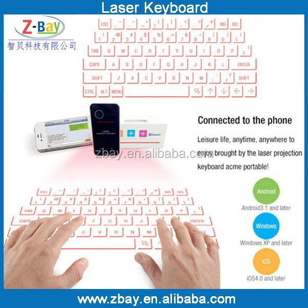 2015 Hot selling most popular virtual laser keyboard for laptop iphone ipad
